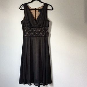 Connected Apparel Sexy Black Stretch Party Dress
